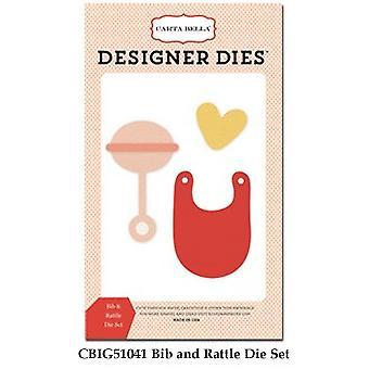 Carta Bella Bib & Rattle Set Designer Dies