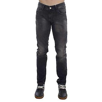 Gray Cotton Stretch Super Slim Fit Jeans -- SIG3713349