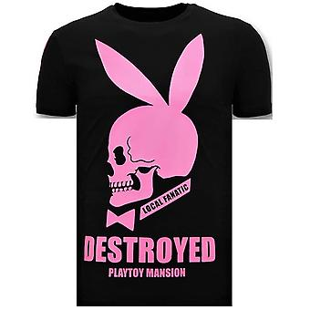 T-shirt - Destroyed Playtoy - Black