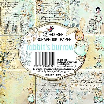 Decorer Rabbit's Burrow 6x6 Inch Paper Pack