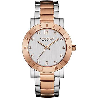Caravelle Watch 45L150 - Plated Stainless Steel Ladies Quartz Analogue