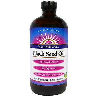 Heritage Store, Black Seed Oil, 16 fl oz (480 ml)