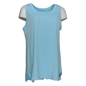 AnyBody Women's Top Cozy Knit Ribbed Mixed Tank Blue A367697