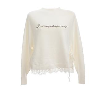 Ermanno Scervino Mg47vis249 Women's White Viscose Sweater