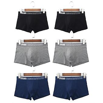 Mens Seam Breathable Underwear Cotton Boxer Shorts