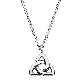 Heritage Sterling Silver Celtic Triangle Knot Necklace 92033HP026