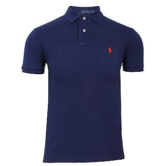 Ralph lauren men's slim fit navy polo shirt