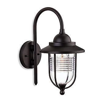 Firstlight Oregon - 1 Light Outdoor Wall Lantern Black IP44, E27