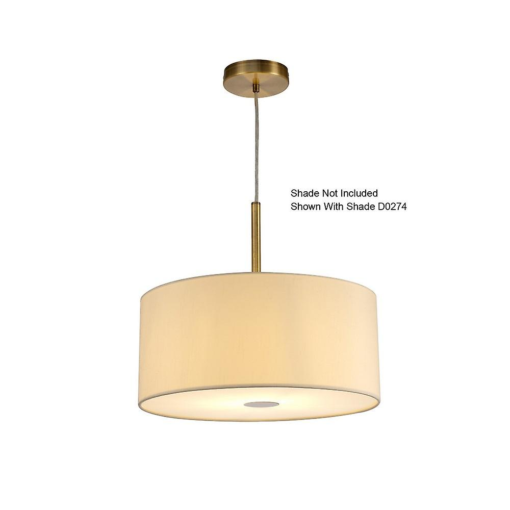 Inspired Deco - Baymont - Antique Brass 1 Light E27 Universal 3m Ceiling Pendant, Suitable For A Vast Selection Of Shades