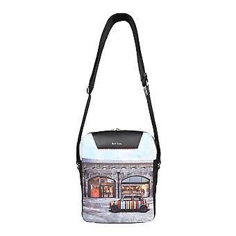 Paul Smith M1a6285emcoalpr Men's Multicolor Polyester Messenger Bag