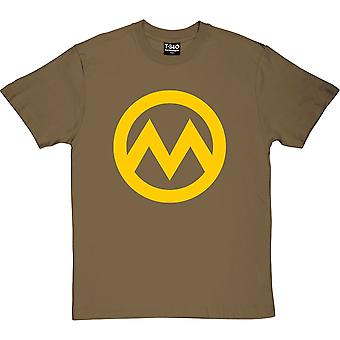 Manchester M (Large Print) Military Green Men's T-Shirt