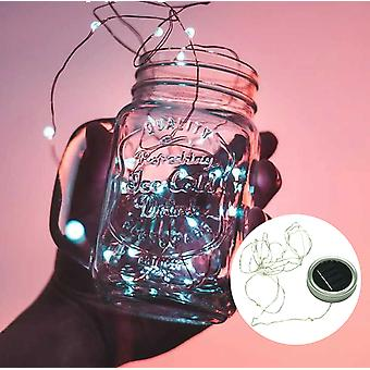 Led Fairy Solar Light Insert For Mason Jar Lid - Color Changing Garden Decor