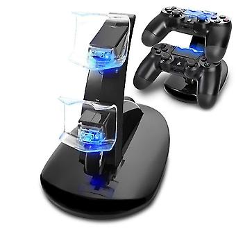 Controller Charger Dock Led Dual Usb Ps4 Charging Stand Station Cradle For Sony Playstation 4