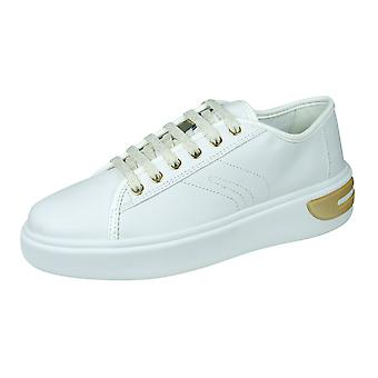Geox D Ottaya A Womens Nappa Leather Trainers - Blanc