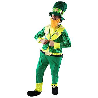 Orion kostuums mens Green St Patrick's Day Leprechaun Ierse fancy dress kostuum