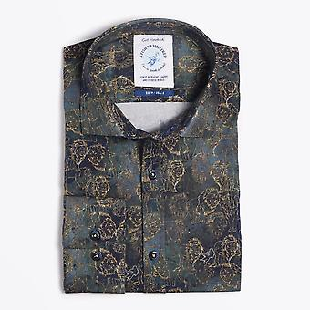 A Fish Named Fred  - Lion Print Shirt - Green