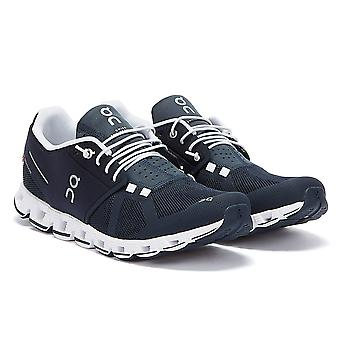 On Running The Cloud Mens Navy / White Trainers