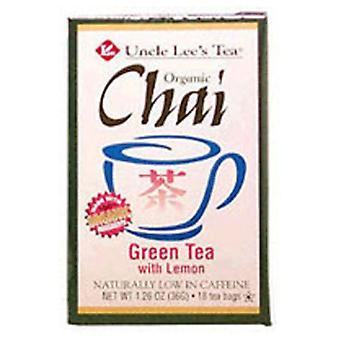 Uncle Lees Teas Organic Chai Tea, Lemon, 18 Count