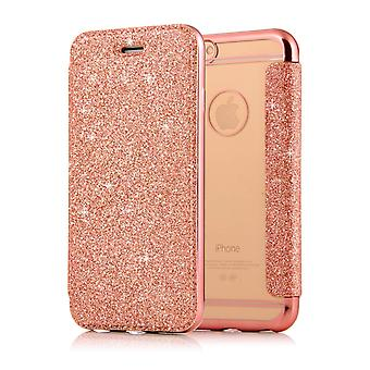 Leather Case for Apple iPhone 7 Plus / 8 Plus Rose gold honghaowei-432