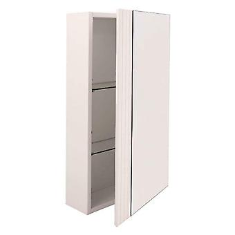Croydex Single Mirror Door Wooden Bathroom Cabinet - Hang 'N' Lock - WHITE