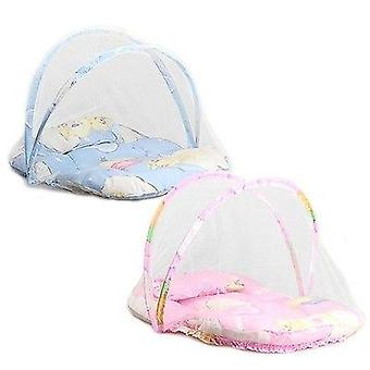 Baby Cartoon Foldable Crib Tent Bed -mosquito Crib Netting Net,  Warm Cotton