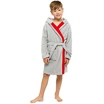 Boys Shark Hooded Towelling Robe