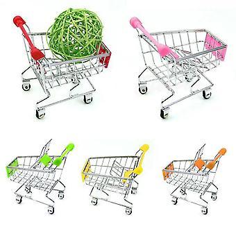 Mini Supermarket, Handcart Shopping Utility Cart Mode Storage Basket Desk Jucărie