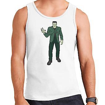 Frankenstein Monster Pose Illustration Men's Vest