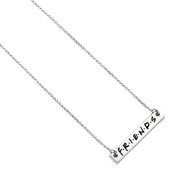 Friends Logo Silver Plated Pendant Necklace
