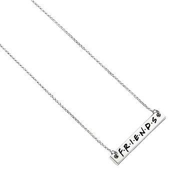 Venner Logo sølvbelagt vedhæng halskæde