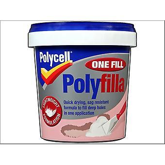 Polycell One Fill Polyfilla Tub 600ml