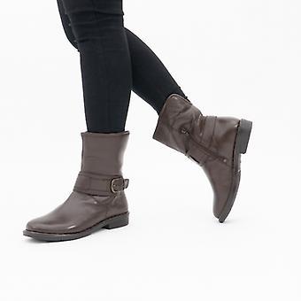 لوتس ماترهورن السيدات الجلود الكاحل أحذية براون