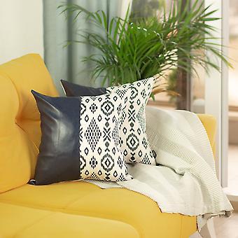 Decorative Faux Vegan Leather Pillow Cover