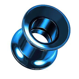 8MM Kék eloxált 316L sebészeti acél dupla kiszélesedő belső menetes gauge hús alagút fül piercing ékszerek