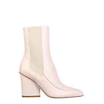 Salvatore Ferragamo 01r430732737 Women's White Leather Ankle Boots