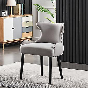 Oliver Lux Velvet Dining Chair Light Grey