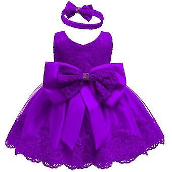 Vauva tytöt vastasyntyneet häät juhla prinsessa mekko