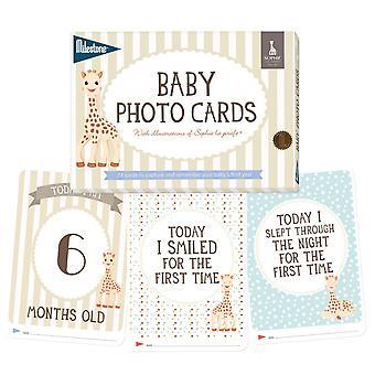 Sophie la girafe baby keepsake cards by milestone - newborns first year memories sophie la girafe