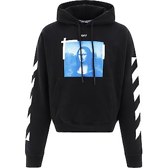 Off-white Ombb037r21fle0011001 Mænd's Sort Bomuld Sweatshirt