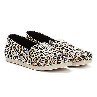 TOMS Alpargata Leopard Womens Brown Espadrilles
