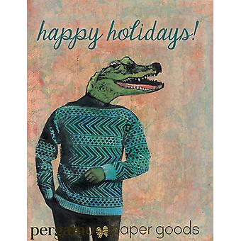 Alligator Holiday Card Or Card Set