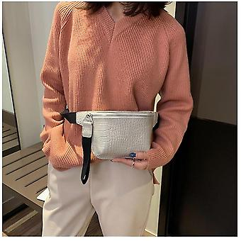 Bag Crocodile Multicolor Messenger Chest Bag/clutch Female Pu Leather