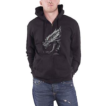 Within Temptation Hoodie Hydra Head Band Logo new Official Mens Black Zipped