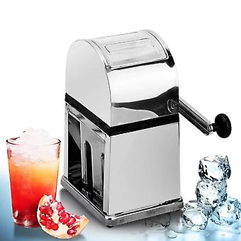 Roestvrij stalen mini ijs scheerapparaten Chopper Manual Snow Cone Smoothie Maker