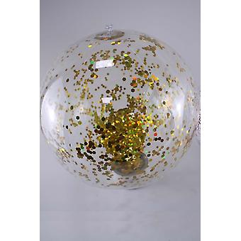 40/60cm Gonflable, Glitter Confetti Beach Ball