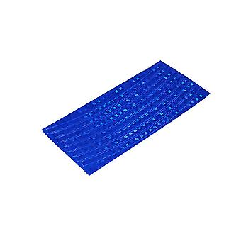 Blue Plastic 21x0.8cm Fluorescent Bike Bicycle Cycling Motorcycle Wheel Tire