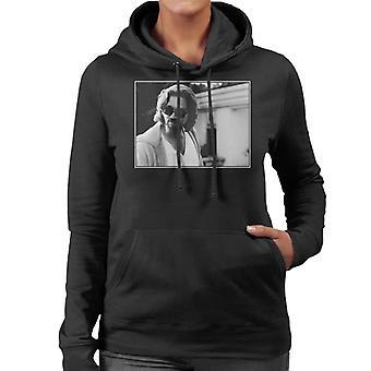 The Big Lebowski The Dude utanför hans hus Kvinnor & apos, s Hooded Sweatshirt