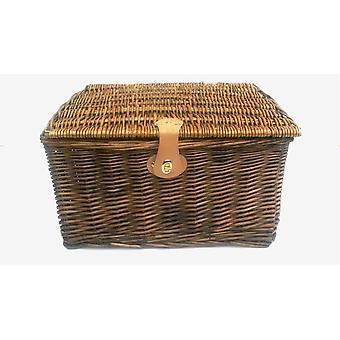 Picnic Hamper Xmas Wicker Storage Basket