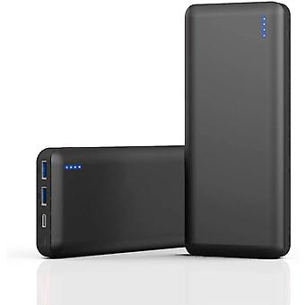 Power Bank 25800mAh Charger 3A Quick Charge with Type-C and 2 USB Ports 4LED Power Indicator