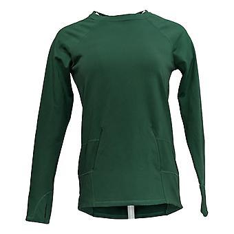 zuda Women's Sweater (XXS) Long Sleeve Sweatshirt Green A371977
